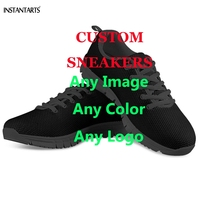 INSTANTARTS Custom Printed Women Men Running Shoes Summer/Spring Sports Shoes Private Custom Make Your Own Image/Logo Sneakers
