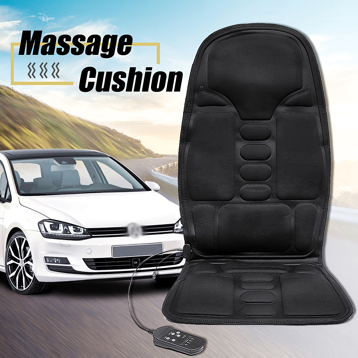 1pcs Electric Mulifunction Heated Massage Car Home Office Seat Cushion Car Seat Chair Massager Lumbar Back Neck Pad Relaxation1pcs Electric Mulifunction Heated Massage Car Home Office Seat Cushion Car Seat Chair Massager Lumbar Back Neck Pad Relaxation
