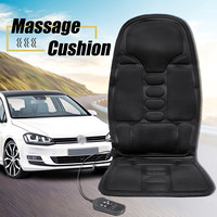 1pcs Electric Mulifunction Heated Massage Car Home Office Seat Cushion Car Seat Chair Massager Lumbar Back Neck Pad Relaxation