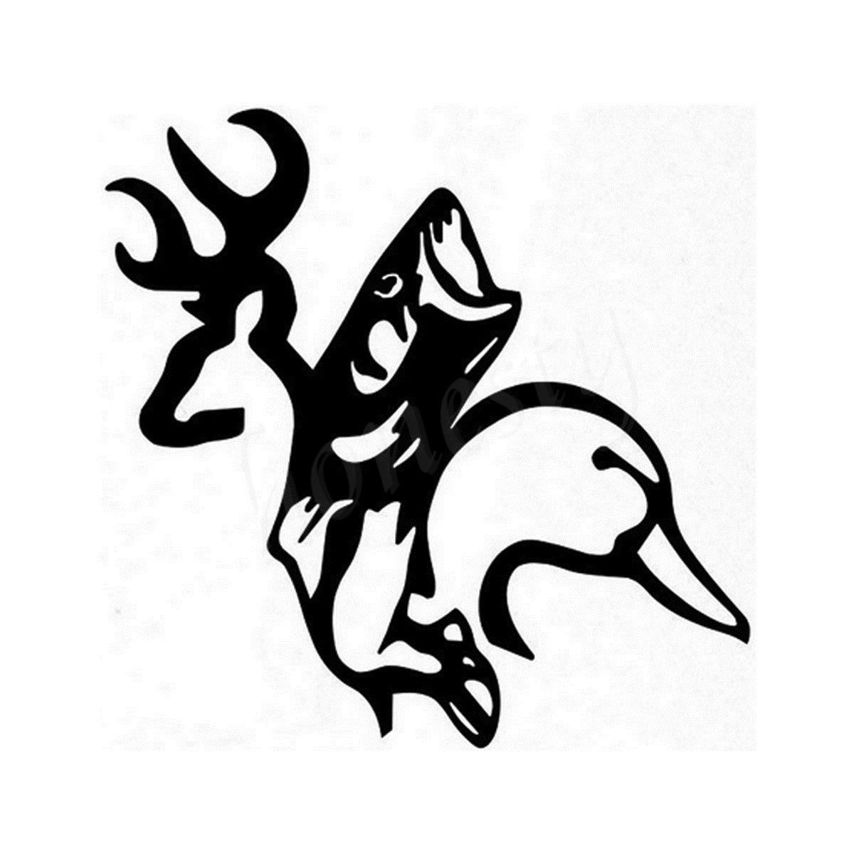 Deer Duck Fish Home Wall Glass Window Door Car Sticker Laptop Auto