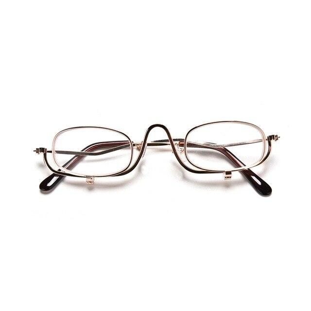 Mulheres Ultraleves óculos de Leitura Leitor De Óculos Armação de Metal  Clip Sobre Maquiagem Lupa Barato c4c2f52288