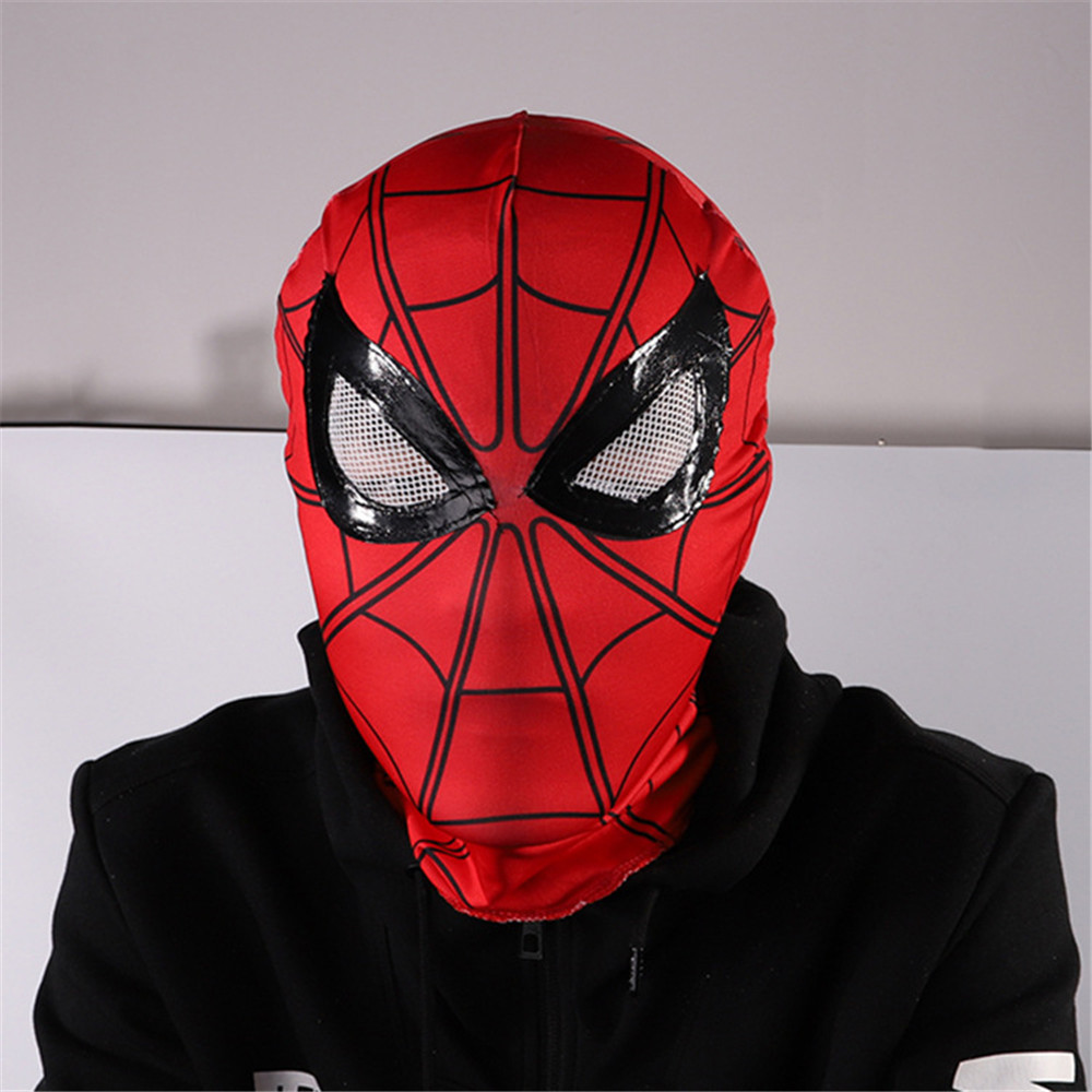 The Avengers cosplay Spider-Man The Flash Cap Mask Hood Adult Halloween Mardi Gras Party Mask Props
