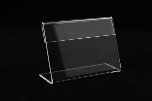 2e4284be458 Acrylic T1.3mm Small sign clip L label tag frame Table Sign Price Tag Label