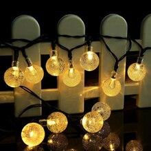 Светодиодный солнечный свет на открытом воздухе/лампа/Водонепроницаемая Солнечная струнная лампа сказочная ленточка солнечная батарея для светящейся гирлянды Свадебная вечеринка садовое украшение
