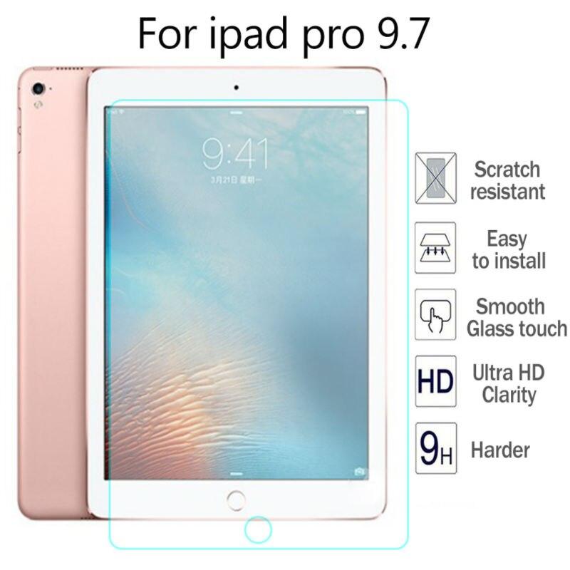 Galleria fotografica 9H Tempered Glass For Apple iPad pro 9.7 inch Screen Protector Film 2.5D Hard Cover For iPad pro 9.7 0.3mm Premium Screen Guard