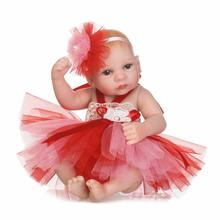 цена на dolls & stuffed toys 26 cm Full Silicone Girl baby toys doll  vinyl reborn babies doll 10 inch  silicone doll toys for girls toy