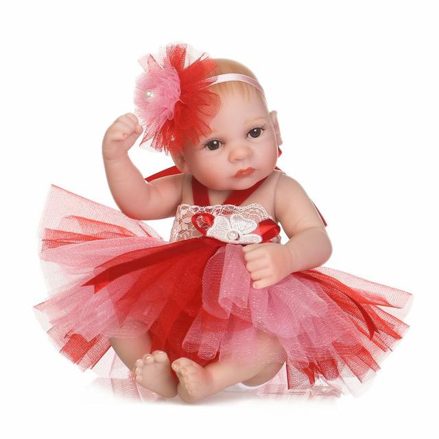 dolls & stuffed toys 26 cm Full Silicone Girl baby toys doll  vinyl reborn babies doll 10 inch  silicone doll toys for girls toy