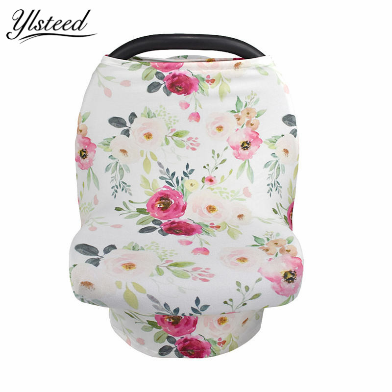 Multifunction Stretchy Baby Car Seat Cover Nursing Cover Breastfeeding Cover Shopping Cart Grocery Trolley Covers Carseat Canopy baby car seat cover canopy nursing cover multi use stretchy infinity scarf breastfeeding shopping cart cover high chair cover