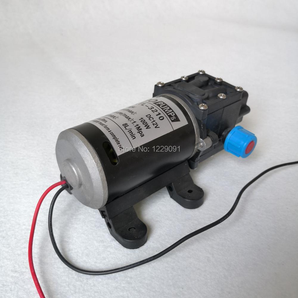 Self suction water pump 100W  Diaphragm high pressure small 12 volt 24 volt dc diaphragm Water Pump 8L/min