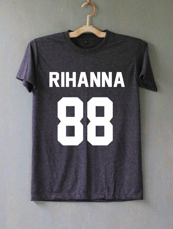 Rihanna көйлек T shirt футболка Tshirts Tee - Әйелдер киімі - фото 2
