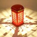 Retro Cabina de Teléfono de Londres Lámpara Ahorro de Energía de La Batería USB de Doble uso Noche Light Touch Sensor LED Lámpara de Noche En Casa iluminación