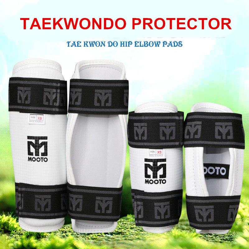 Mooto бренд тхэквондо руку Защитные щитки WTF взрослых детей тхэквондо карате Бокс хвостовика ног протектор