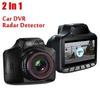 2 in 1 Anti Laser Radar Detectors Detection S8 Car DVR Camera Dash Cam G sensor English Russian Broadcast Auto Traffic Warning
