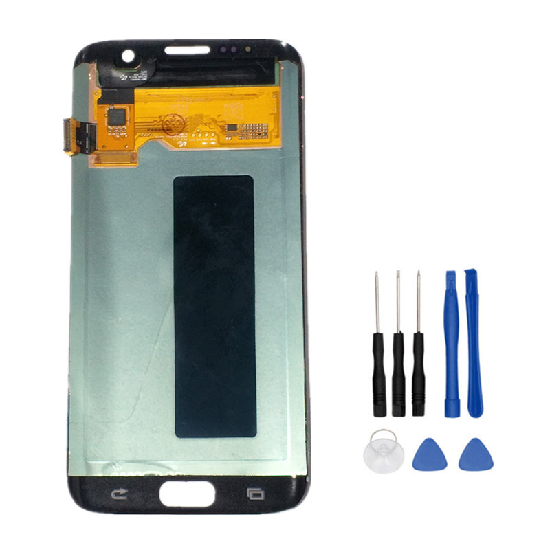 100% Tested Original LCD For SAMSUNG GALAXY S7 Edge G935 G935F Display Touch Screen Digitizer Assembly Replacement parts+Tools
