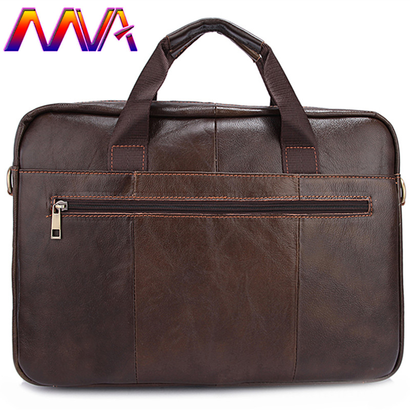 MVA Cheap price leather men shoulder bag for fashion business men leather briefcase with 100% genuine leather men laptop bags стоимость