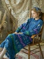 Линетт's CHINOISERIE весна зима новый оригинальный дизайн для женщин Винтаж Мори обувь для девочек кружево теплый толстый вязаный шерстяной пуло