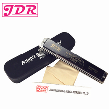 купить JDR Harp Diatonic Harmonica Tremolo Standard 24 Hole Harmonica With Case Woodwind Musical Instrument Key Of C For Rock Jazz Folk по цене 1595.71 рублей