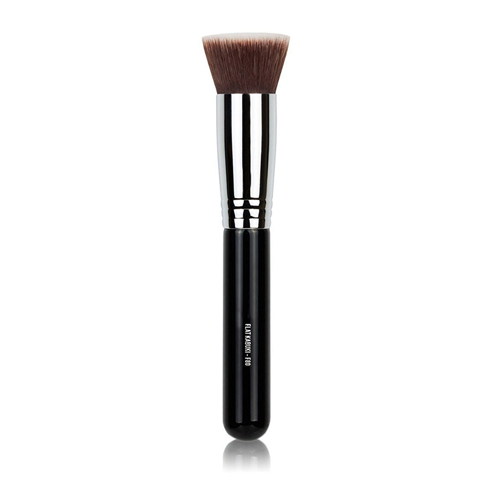 F80 TOP Flat KABUKI kit de maquiagem profissional sintetico frete gratis Powder Liquid Foundation Makeup Brush