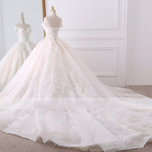 SexeMara A-line Wedding Dresses Court Train Bride Dress
