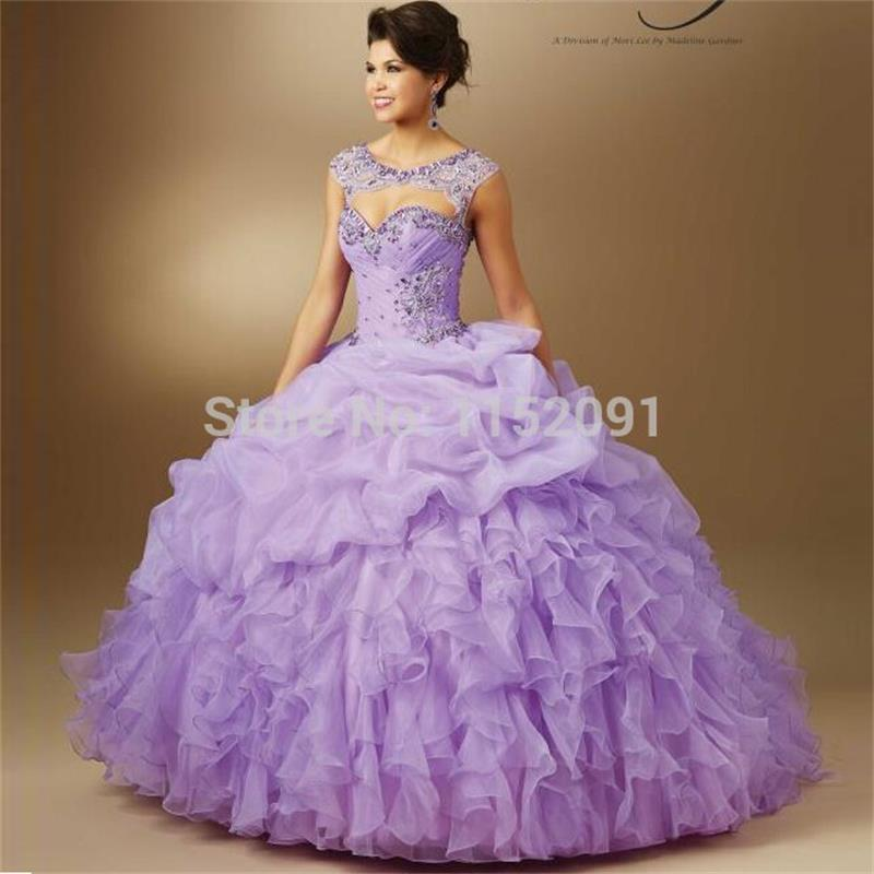 lila kleur jurk