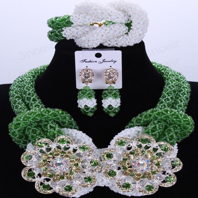 Party menyasszonyi fülbevalók nyaklánc ékszer szett klasszikus - Divatékszer - Fénykép 6