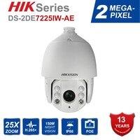 Hik Оригинальная английская IP Камера открытый DS 2DE7225IW AE 25X PTZ зум ИК камера видеонаблюдения Камера H.265 + автоматическое слежение за Поддержка