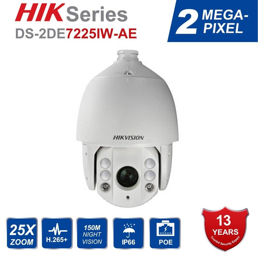 Hik Original anglais caméra IP DS-2DE7225IW-AE extérieur 25X PTZ Zoom IR vitesse dôme caméra H.265 + Support de suivi automatique