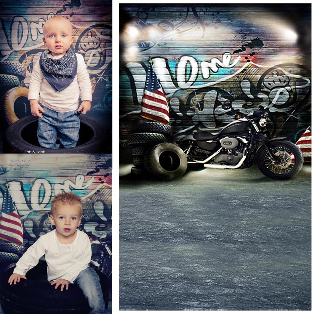 New arrival Background fundo Motorcycle tire wall 6.5 feet length with 5 feet width backgrounds new arrival background fundo doors balloon ladder 7 feet length with 5 feet width backgrounds lk 2817