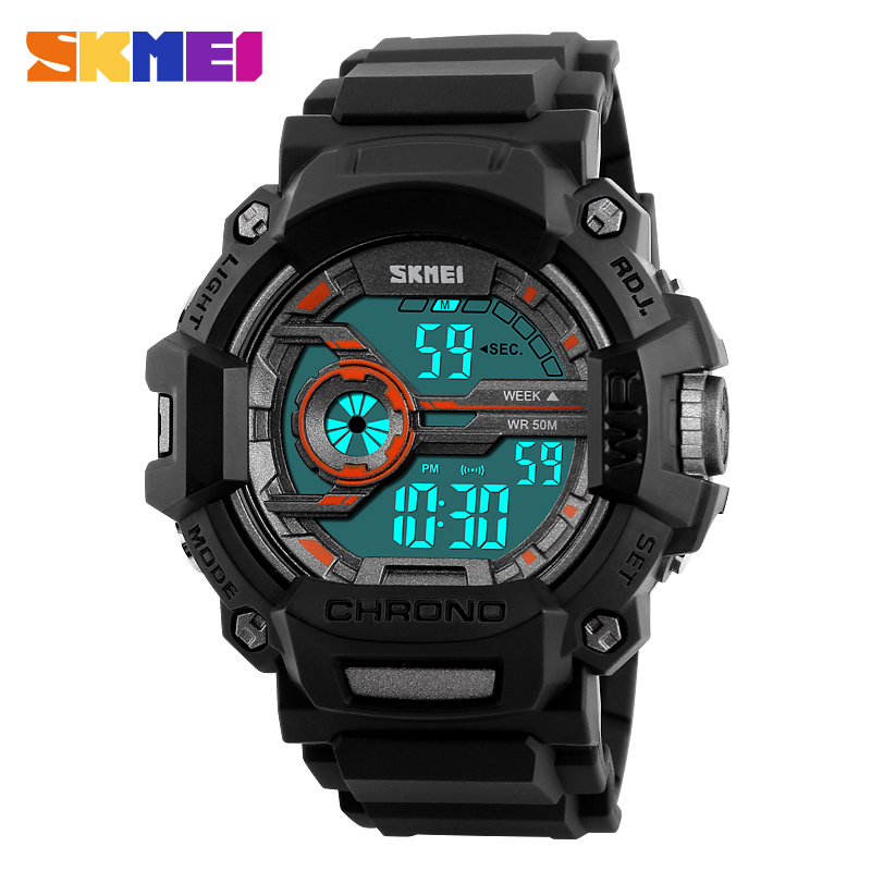 SKMEI 1233 Mannen Sport Horloges Multifunctionele LED Mode Digitale - Herenhorloges - Foto 1