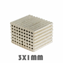 50Pcs 3x1mm Neodymium Magnet Permanent N35 c Super Strong Powerful Small Round Magnetic Magnets Disc 3mmx1mm