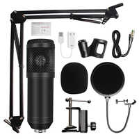 Микрофон bm 800 Студийный микрофон профессиональный микрофон bm800 конденсаторный звукозаписывающий микрофон для компьютера
