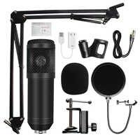 Mikrofon bm 800 mikrofon studyjny profesjonalny mikrofon bm800 mikrofon z kondensatorem do nagrywania dźwięku do komputera