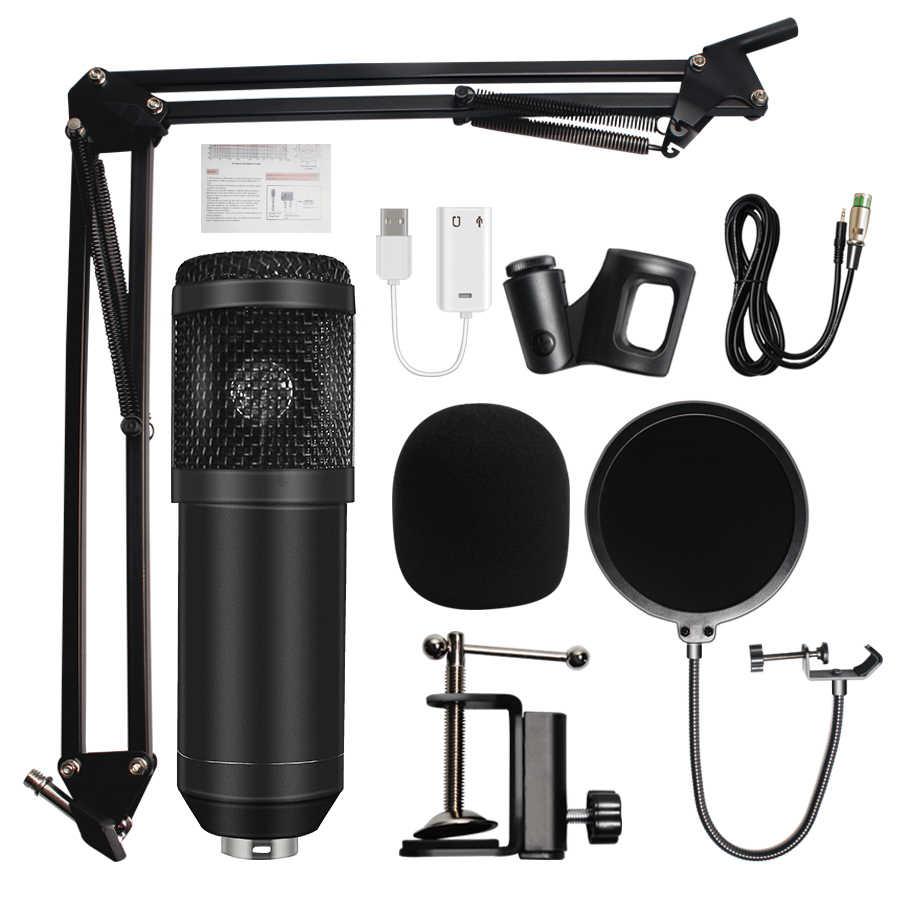 Микрофон bm 800 профессиональный микрофон bm800 конденсаторный звукозаписывающий микрофон для компьютера
