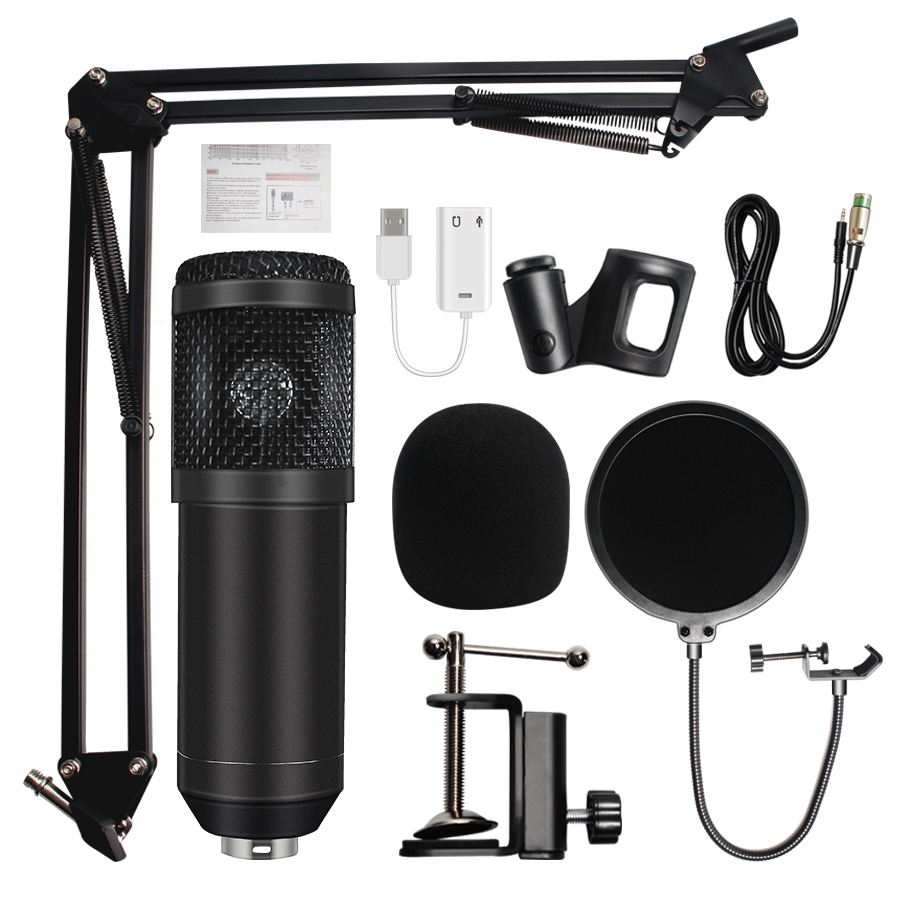Microphone for Computer Bm800-Condenser Sound-Recording Professional title=