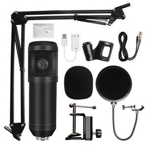 microfone bm 800 Studio Microphone Professional microfone bm800 Condenser Sound Recording Microphone For computer(China)