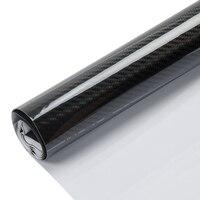 Black 5D Carbon Fiber High Gloss Car Vinyl Wrap Sticker Decal Film Sheet Bubble Free Air Release 60x20 (152x50cm)