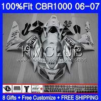Injection Body For HONDA CBR 1000 RR 06 07 CBR 1000RR 71HM.12 CBR1000RR 06 07 CBR1000 RR 2006 2007 Repsol white OEM Fairing kit