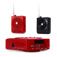 Portable 5W Loudspeaker Microphone Amplifier Mini Megaphone Digital Megaphone Voice Booster Audio External WIth FM Radio