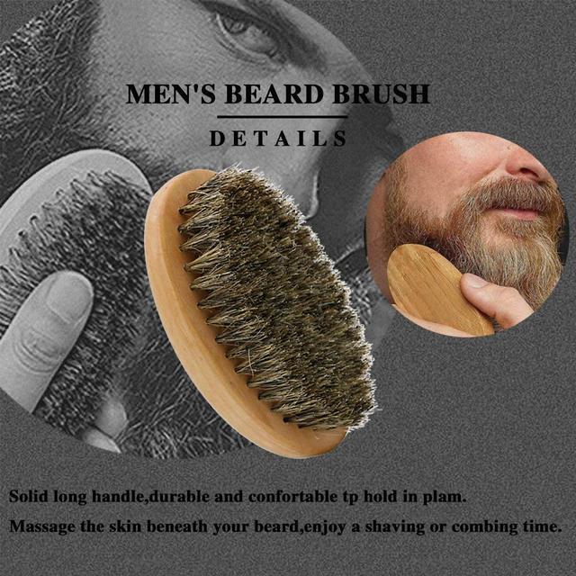 SPEQUIX Men's Beard Grooming Kit Included Massage Beard Oil, Mustache Balm,Beard Brush,Comb  Sharp Scissors 5PCS/Set 5