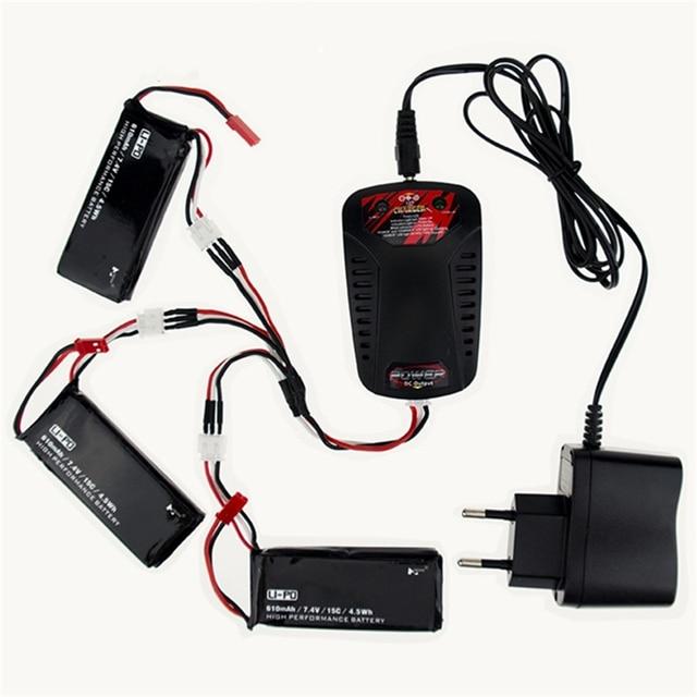 3pcs lipo battery 7.4V 610mAh 15C 4.5Wh batteries JST plug For Hubsan X4 H502S H502E rc Quadcopter Multicopter drone Parts