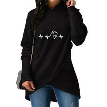 Dog heartbeat women's pullover hoodie