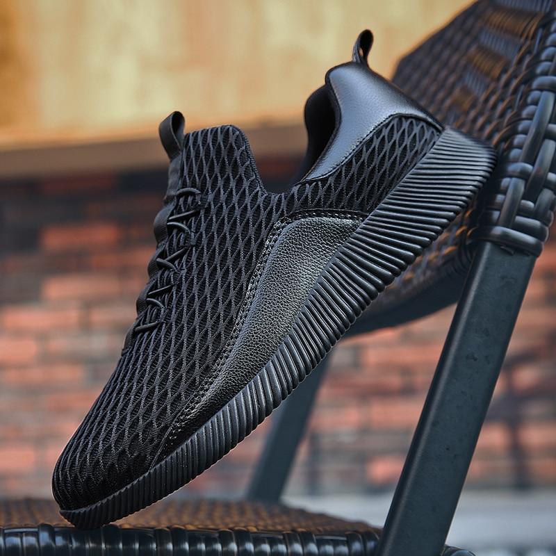 Hommes Homme Marque Tenis Designer Chaussures Mâle White Black Respirant De Slip Plein Marche black Sneakers En Casual Air Sur Bomkinta AOqIwEW