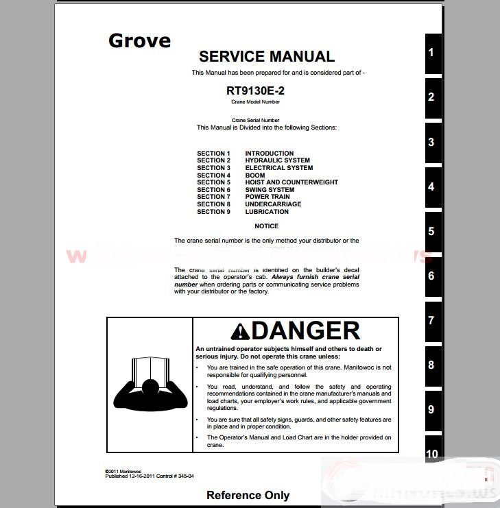 grove crane all service manual training manual in code readers rh aliexpress com Link Belt Truck Crane Gantry Crane
