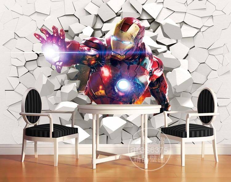 Iron Man Wallpaper Marvel Heroes Photo Custom Wall Murals Boys Kid Bedroom Art Room Decor Interior Design Avengers In Wallpapers From Home