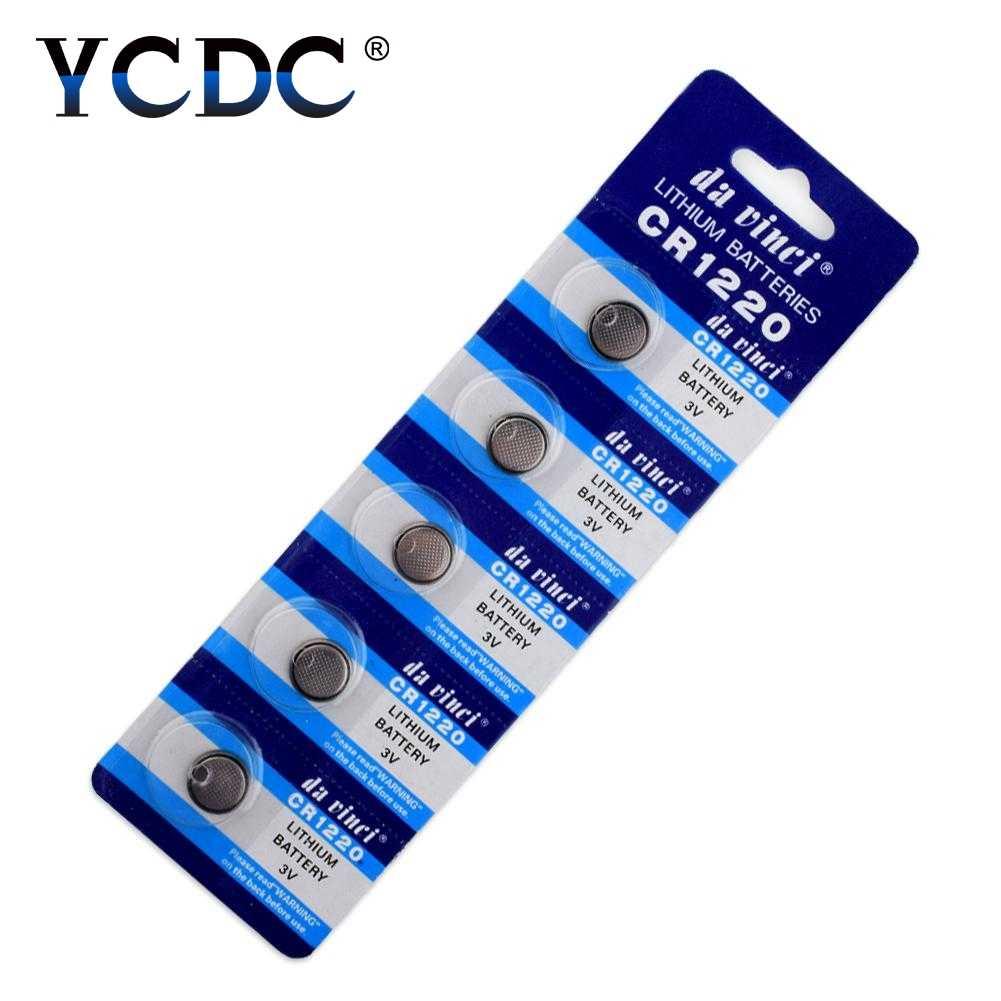 10 Cái/gói CR1220 Lithium Pin Nút DL1220 BR1220 LM1220 Tế Bào Đồng Xu Pin 3V CR 1220 Cho Đồng Hồ Điện Tử Đồ Chơi điều Khiển Từ Xa