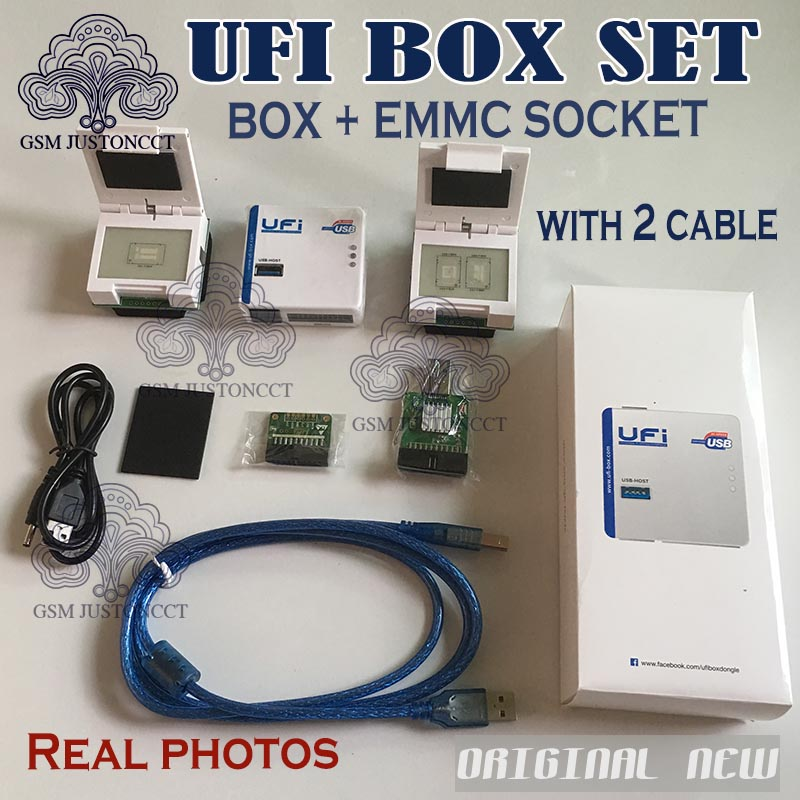 2020 New Original UFI Box + SOCKET  Power Ufi Box Ful EMMC Service Tool Read EMMC User Data, As Well As Repair, Resize, Format