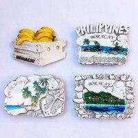 NEW Arrival Philippine Boracay Fridge Magnets 3D Resin Hand painted Banana Travel Tourism Souvenirs