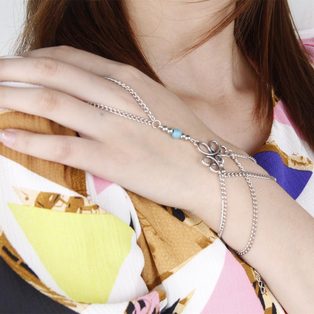 HTB1topAKVXXXXcJXpXXq6xXFXXXc Bohemian Hand Slave Chain Jewelry With Fleur De Lis Accent