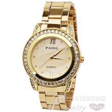 Nouveau Mode Or Argent Hommes Horloges Strass Shell Montres Diamante Alliage Bande de Quartz De Mode Sport Casual Robe Montres