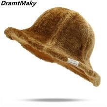 66f085fa4e6269 New hot sale sheep wool cap knitting fisherman hat women Female fashion  witch pointed basin bucket